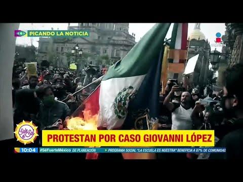 Protestas en Guadalajara por caso Giovanni López | Sale el Sol