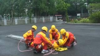 高雄市義勇特種搜救隊專業訓練_低所救助_消防署5人版本