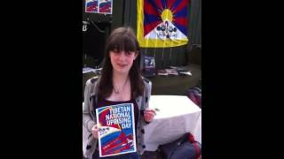 Tibetan uprising day stall at Edinburgh university