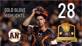 buster posey 2016 gold glove highlights