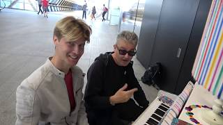 Blonde Boy Gets  Taught Not To Bash The Piano