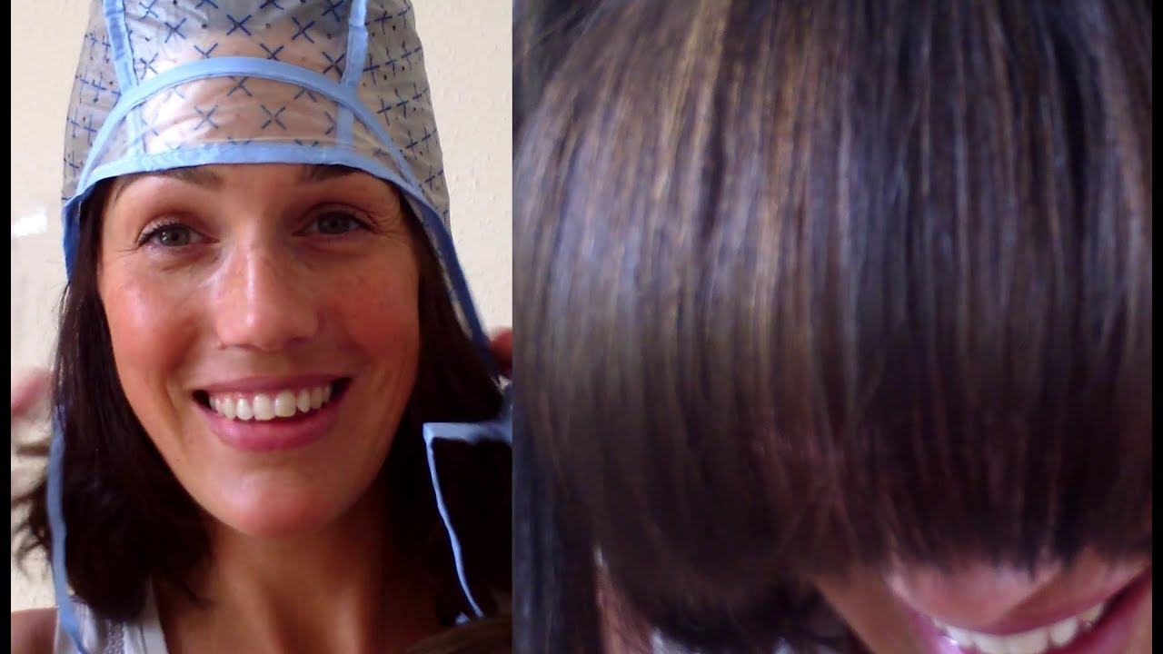 Diy highlights with a cap at home vintagious vlogs youtube pmusecretfo Images
