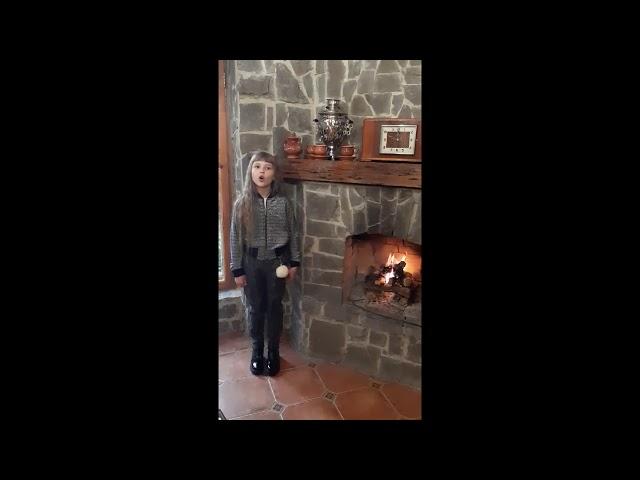 Изображение предпросмотра прочтения – КристинаСкопюк читает произведение «Поёт зима— аукает…» С.А.Есенина