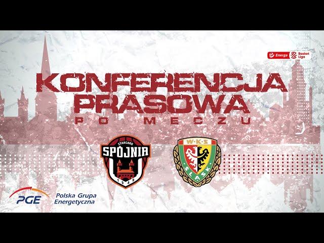 Konferencja prasowa po meczu PGE Spójnia Stargard - WKS Śląsk Wrocław