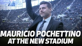 MAURICIO POCHETTINO'S HALF-TIME INTERVIEW AT SPURS NEW STADIUM!