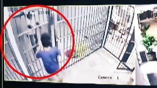 Man Tricks Policeman to Escape from Prison Cell