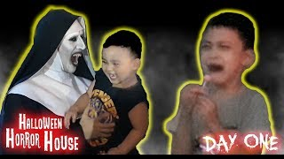 VALAK JOINS KIDS! Opening of Halloween Horror House 2018 maze (DAY 1)