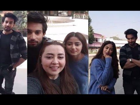 Sajal Ali And Ahad Raza Live Chat 2018
