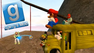 Garry's Mod Sandbox Fun - Banana Bus Fail, Bungee Jumping, Frogs (Gmod Funny Moments)