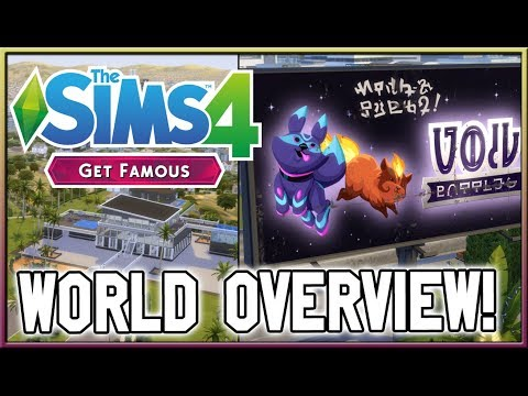 Del Sol Valley Overview! | The Sims 4: Get Famous thumbnail