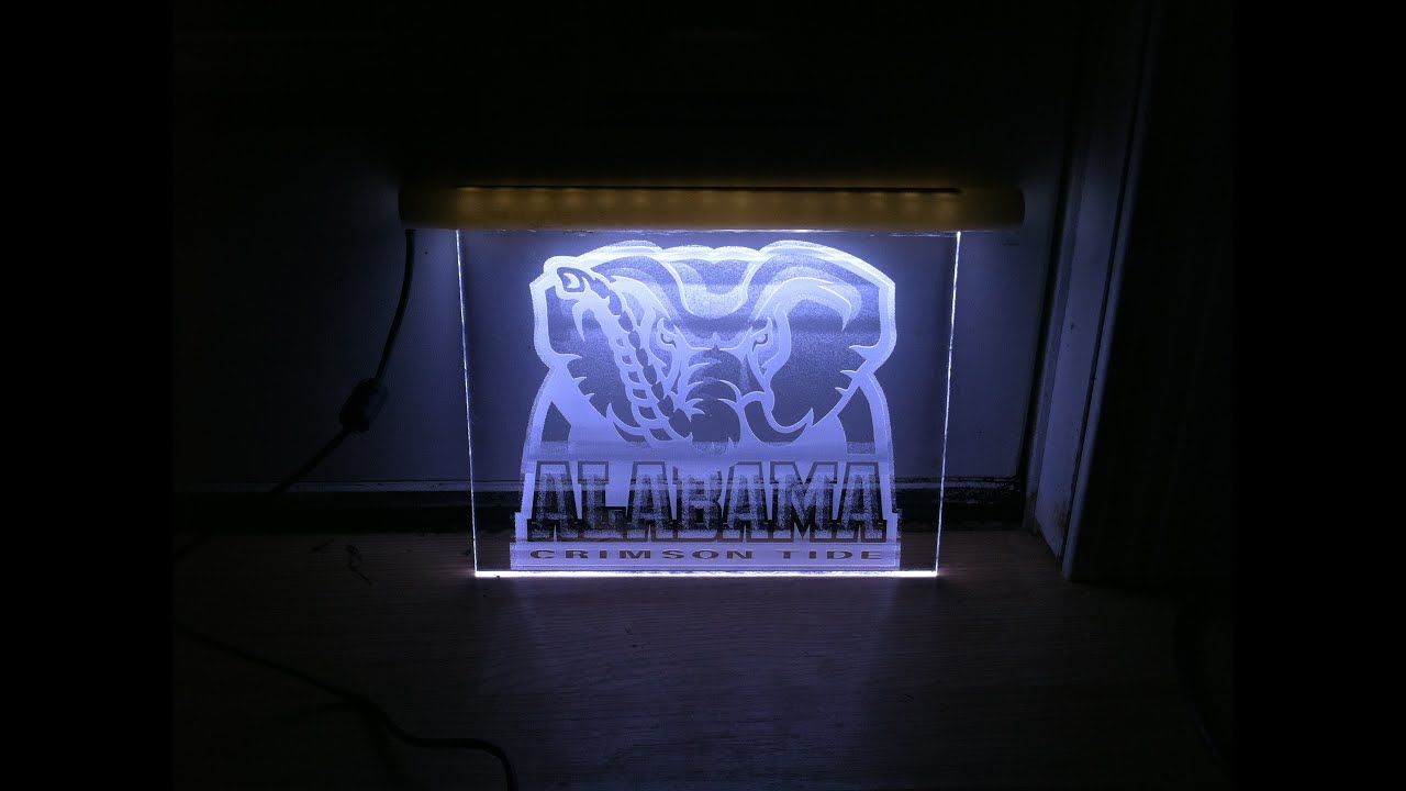 How to make a led edge lit acrylic sign with laser