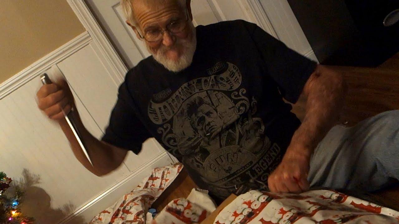 grandpas christmas wrapping meltdown youtube - Grandpa For Christmas