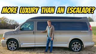 homepage tile video photo for This $80,000 Chevy Explorer Conversion Van Is A Private Jet For The Road (Makes Escalade Feel Cheap)