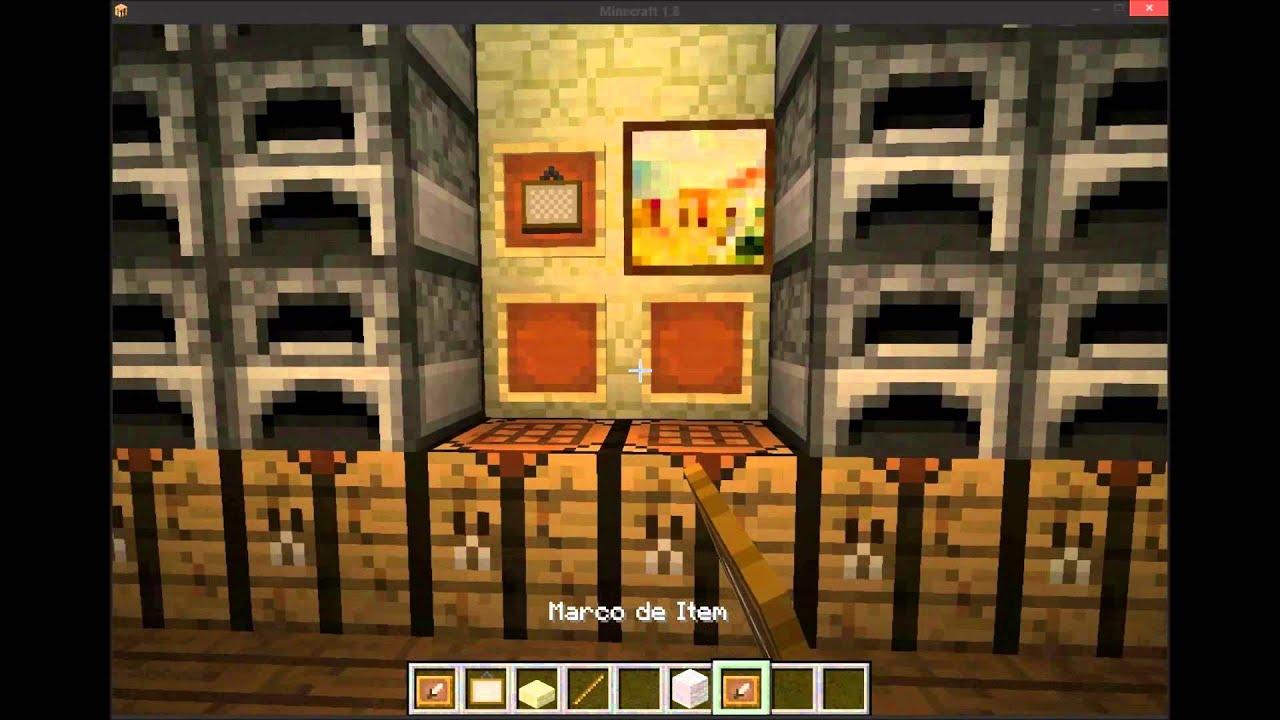 Moderno Cómo Hacer Marcos De Cuadros En Minecraft Patrón - Ideas ...