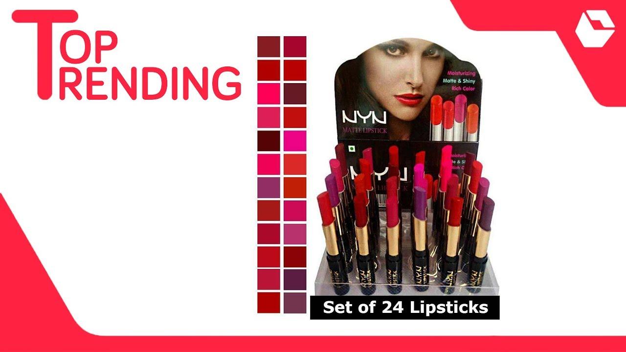 64e35a8982 NYN Matte finish Lipstick (Set of 24 pcs) - YouTube
