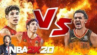 NBA 2K20 LAMELO BALL VS TRAE YOUNG!! *FUNNY