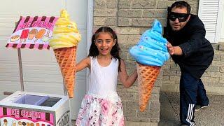 Heidi e Zidane brincam de sorveteria | Ice Cream Shop Pretend Play