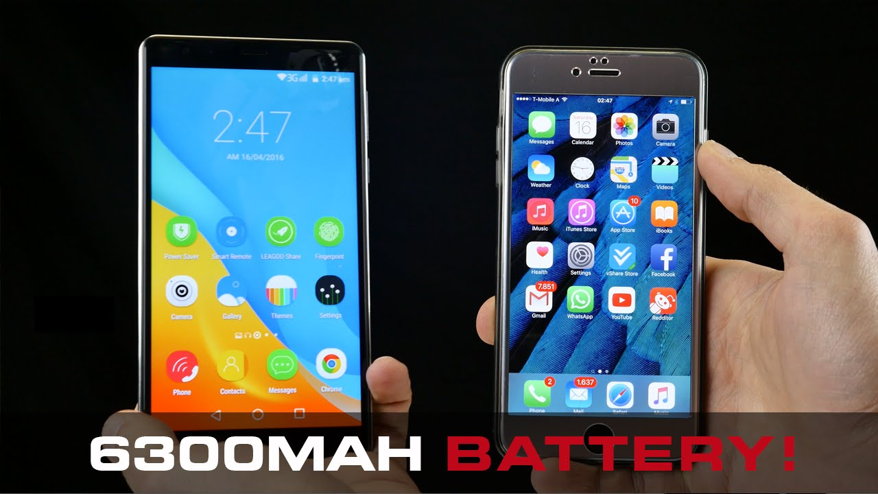 Phone Android Phone With Biggest Battery biggest 6 battery smartphone 2016 leagoo shark 1 4k youtube