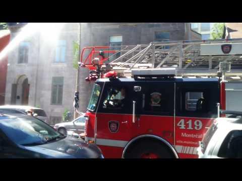Incendie Rue Saint -Hubert prêt Rue Saint -Catherine et Boulevard René Levesque à Montréal, Québec,C