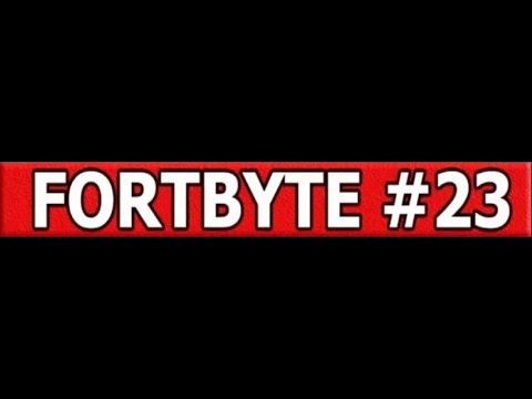 Fortnite #23 - Found Between An RV CAMPSITE, A GAS STATION, AND A MONSTROUS FOOTPRINT Fortbyte #23