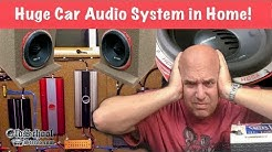 11,000 watts of Car Audio Amps in a Home Audio Setup?