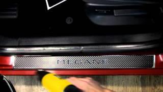 Наклейка на пороги для Renault Megane III ( Рено Меган 3)