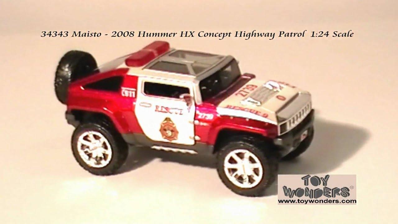 2008 Hummer HX Concept Highway Patrol 124 Maisto Diecast