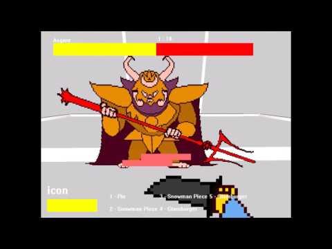 3d Undertale Asgore fight (no hit) (undertale fan game)