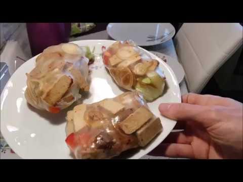 Sommerrollen vegan mit Tofu Zwiebel Füllung - Lichtblick
