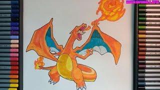 cách vẽ rồng lửa Lizardon-Charizard-pokemon chủ lực của Satoshi