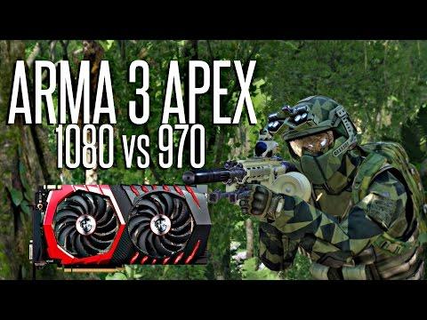 ArmA 3 APEX - GTX 1080 vs GTX 970 Ultra Settings FPS Comparison
