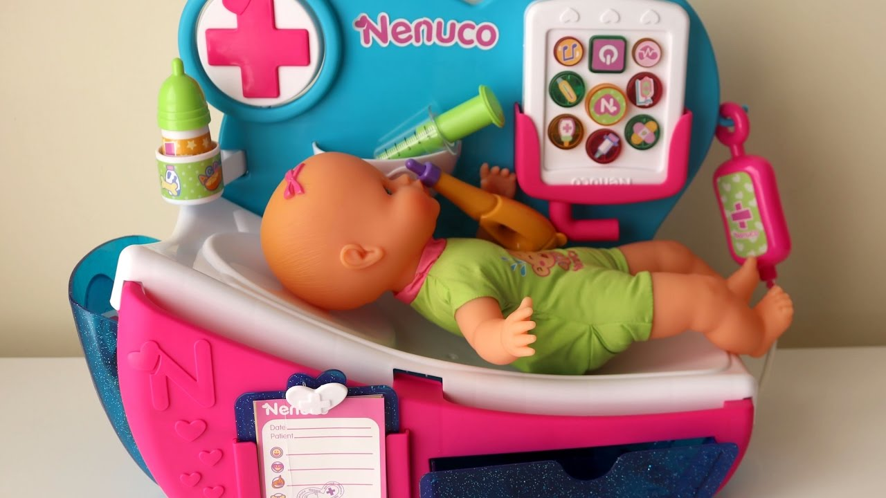 Toy Baby Doll Center : Nenuco baby doll hospital and smoby nurse electronic
