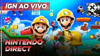 IGN BRASIL - SUPER MARIO MAKER 2 - NINTENDO DIRECT AO VIVO (NINTENDO SWITCH)