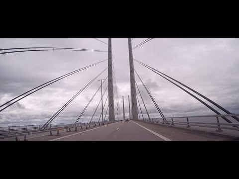 From Stockholm through Denmark three big bridges to Flensburg 29.8.2016