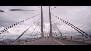From Stockholm through Denmark three big bridges to Flensburg 29.8.2016
