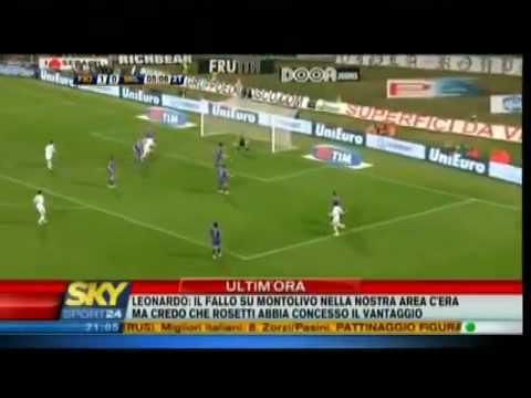 Fiorentina-Milan 1-2 Sintesi Sky Sport Compagnoni - 24/02/10 - Serie A 2009/10