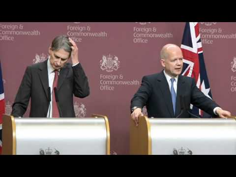 Foreign Secretary William Hague expresses disappointment with Syria