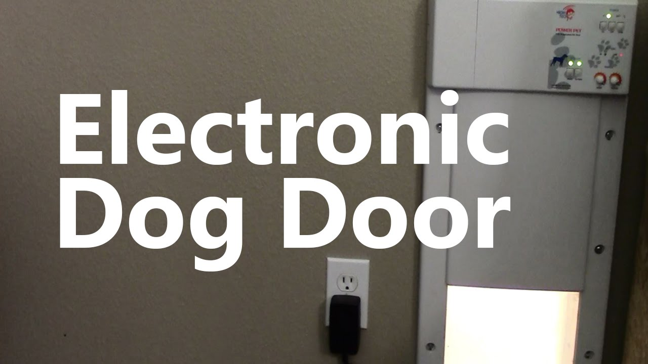 Delicieux High Tech Pet Electronic Dog Door Review   YouTube