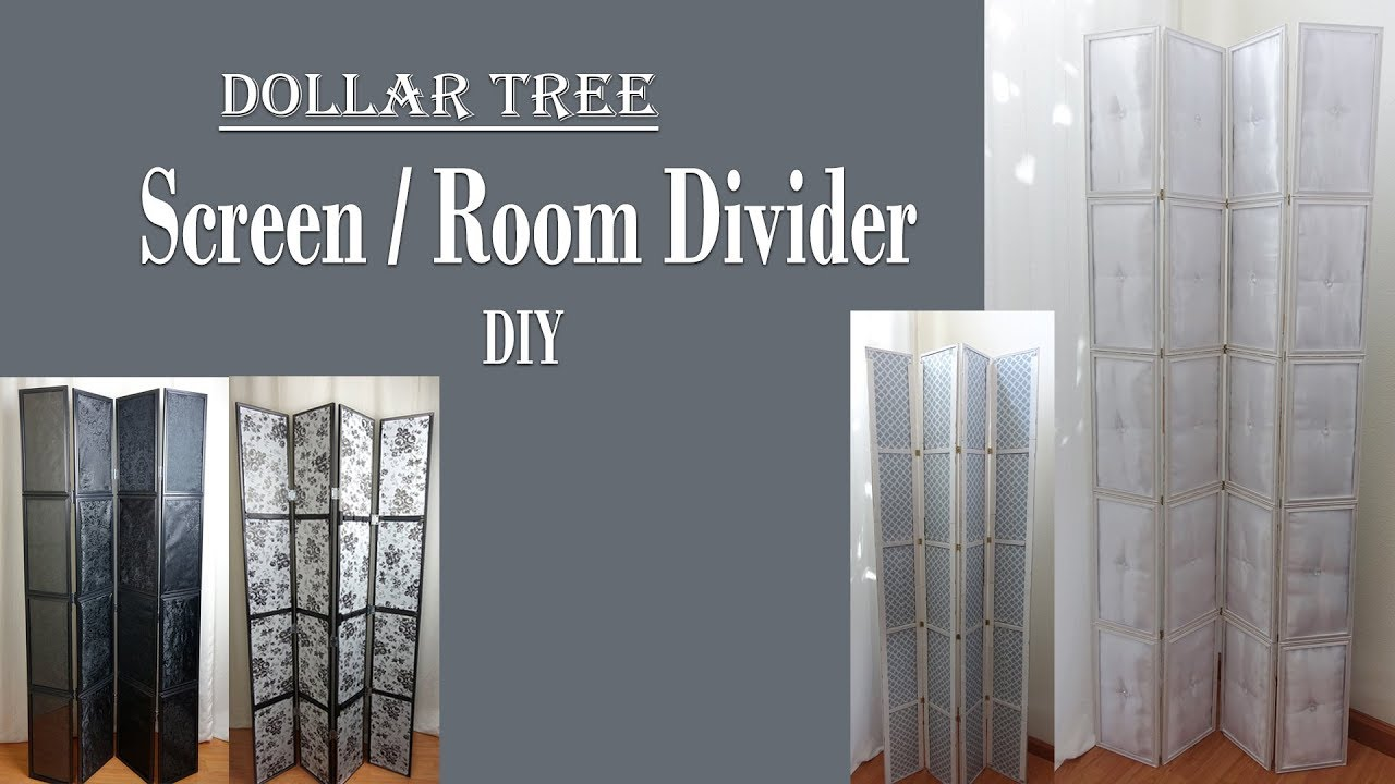 Screen Room Divider 6ft Dollar Tree DIY Movable Partition