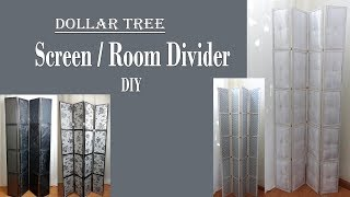 Screen / Room Divider 6ft / Dollar Tree DIY / Movable Partition