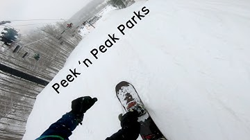 Riding New Terrain Parks At Peek 'n Peak! | 2019