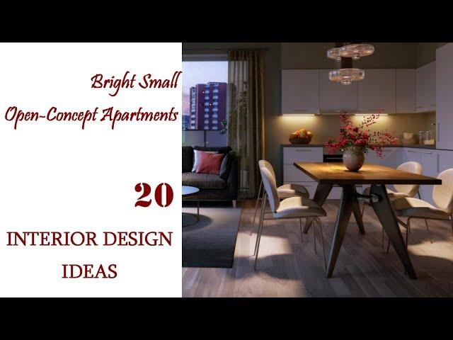 Bright Small Open Concept Apartments   Interior Design Ideas #20