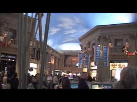 "Inside ""CAESARS PALACE FORUM SHOPS"" in Las Vegas Nevada - Video by Robert Swetz"
