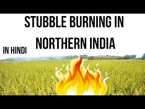 Stubble Burning in Northern India, Air pollution chokes Delhi NCR, Current Affairs 2018