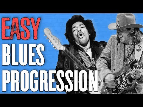 Easy Blues Guitar Progression (Play Like Jimi Hendrix + Stevie Ray Vaughan)