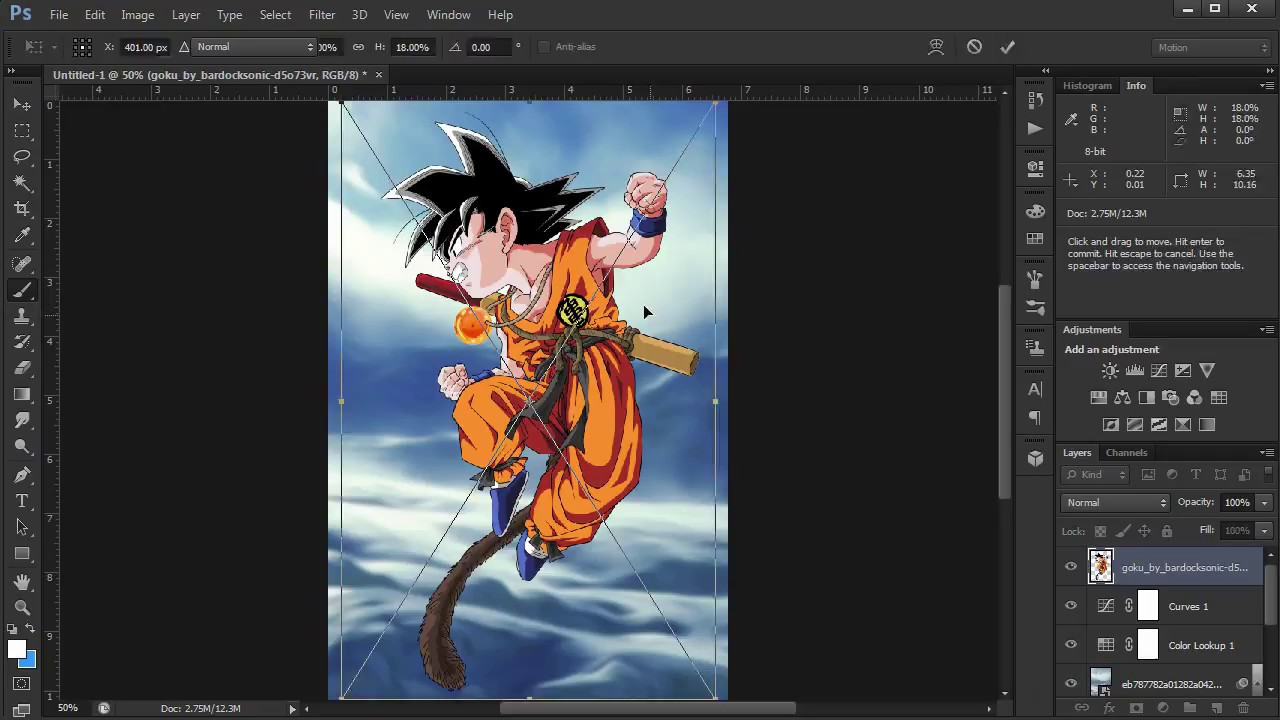 Kid Goku S Wallpaper Speed Art Dragon Ball Youtube