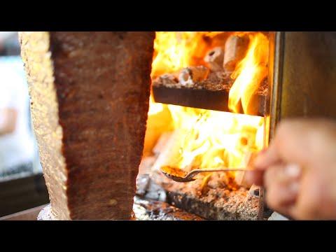 istanbul street food | iskender kebab (doner kebab with yogurt) | turkey street food