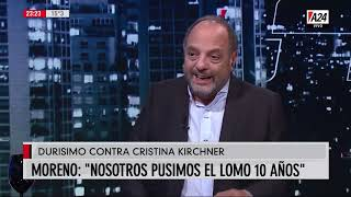 Moreno sacado contra CFK