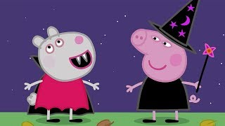 Peppa Pig English Episodes - Halloween Party! - Cartoons for Children thumbnail