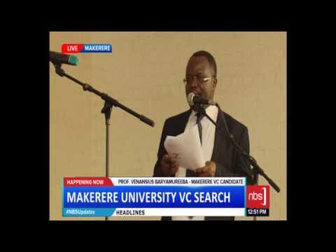 Makerere University Vice Chancellors' Aspirants Question Time
